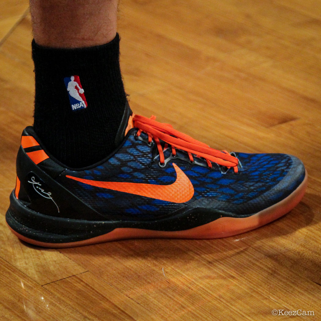 SoleWatch // Up Close At Barclays for Nets vs Knicks - Pablo Prigioni wearing Nike Kobe 8 iD