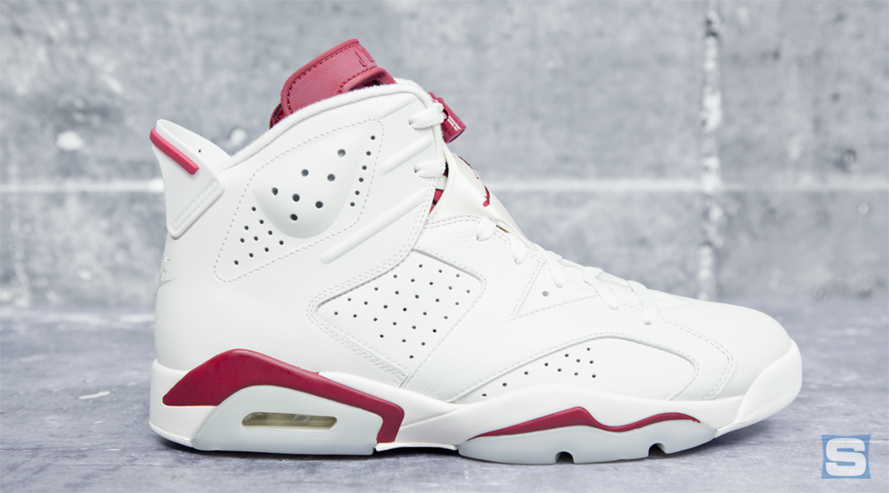 new arrival 3658d 7a7c9 Here's the 'Maroon' Jordan 6 in All Its Nike Air Glory ...