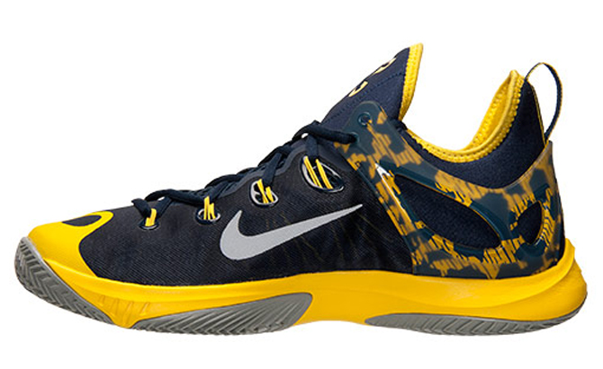 sale retailer e4e0d 721cb This Pacers colored Paul George Nike Zoom HyperRev 2015 is available now  from Finishline.