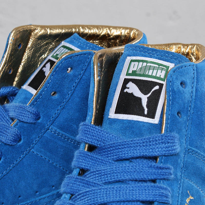 "PUMA ""The List"" Suede Mid & Basket - Gold Classic Pack"