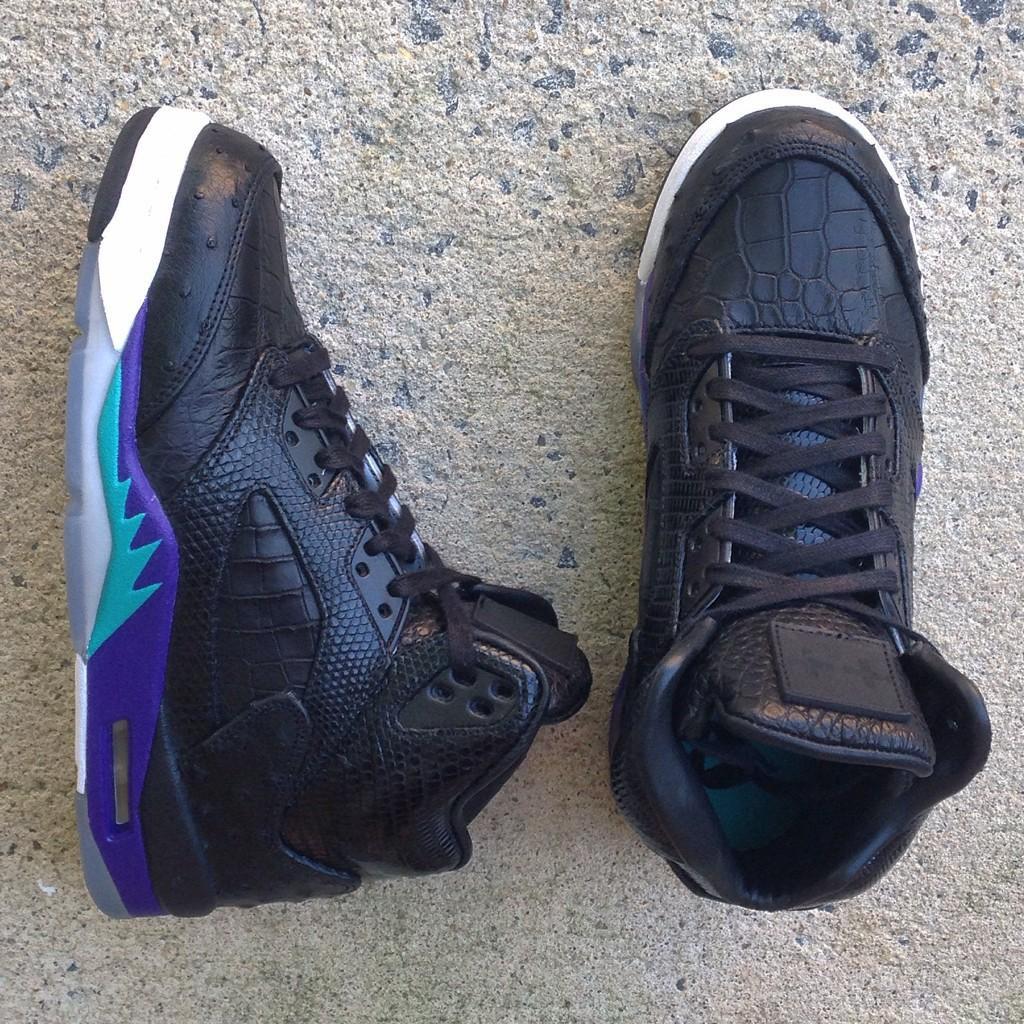 91ce20c3866 Check Out JBF Customs' Exotic 'Black Grape' Air Jordan 5 | Sole ...