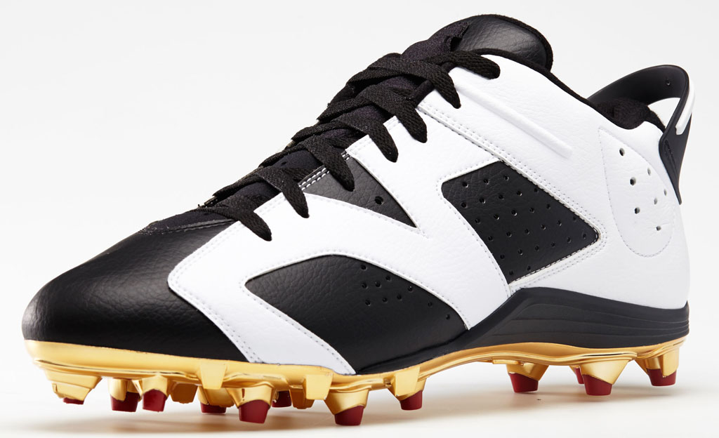 Air Jordan 6 Low Michael Crabtree PE Cleats (1)