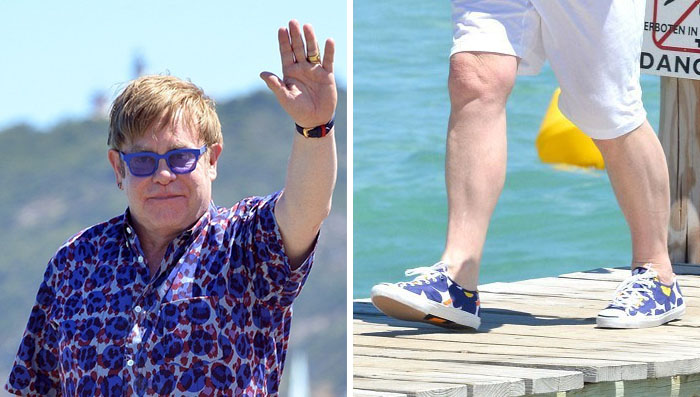 wholesale dealer ffa59 587d7 Elton John wearing Marimekko x Converse Jack Purcell Helen