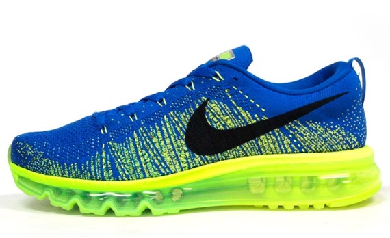 Nike Flyknit Air Max - Blue/Volt. One of Nike\u0026#39;s premier runners for 2014 is introduced in a familiar \u0026#39;Sprite\u0026#39; inspired colorway.