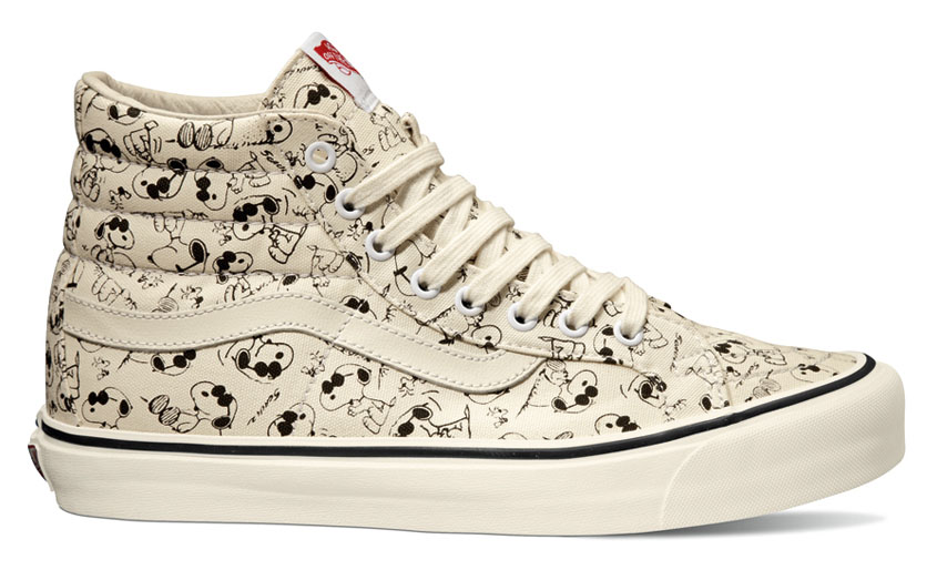 Peanuts x Vans Vault Collection - Sky Hi LX Snoopy White