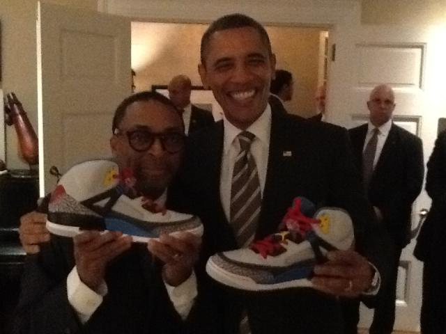 Jordan Spizike Sneakers Shoes President Obama Custom (2)