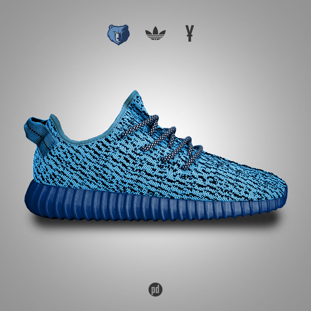 adidas Yeezy 350 Boost for the Memphis Grizzlies