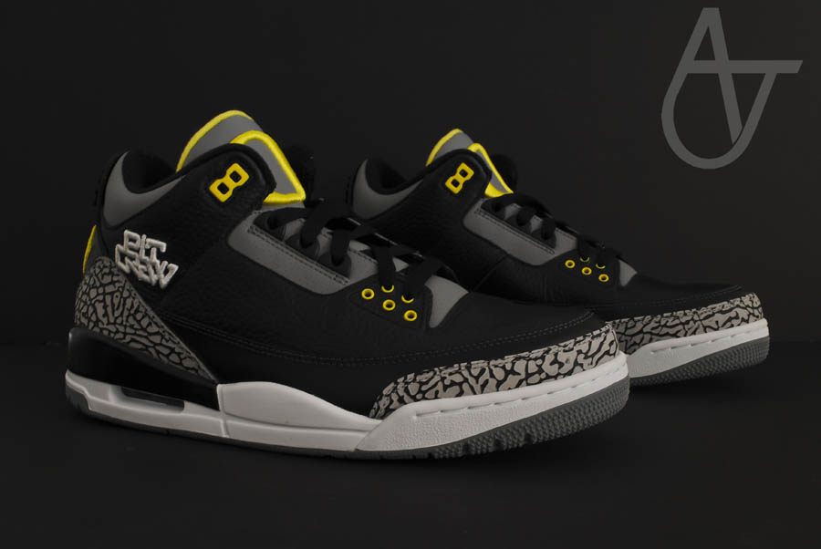 Air Jordan Retro 3 - Oregon Ducks Pit Crew Away (2)