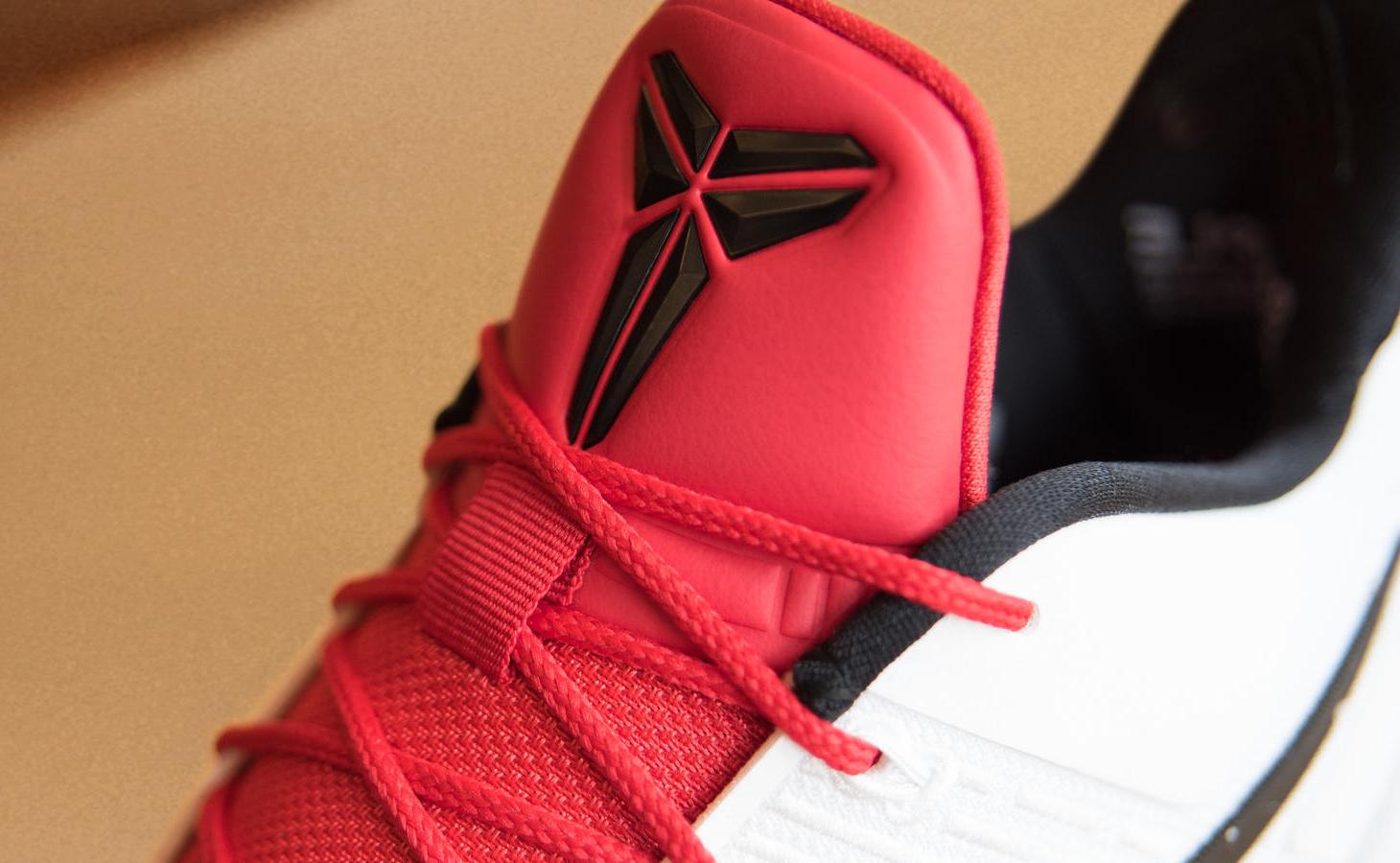 DeMar DeRozan Nike Kobe AD White Black Red Tongue