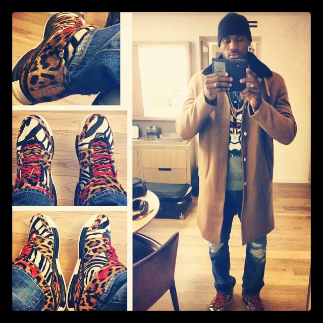 LeBron James wearing Nike LeBron 2 Beast