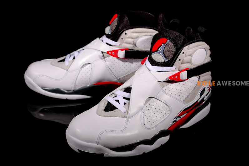 Air Jordan 8 Retro Bugs Bunny White Black True Red shoes