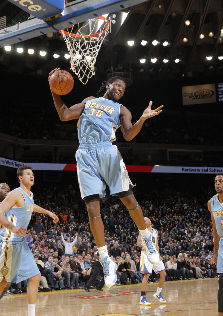 Kenneth Faried wearing adidas adizero Ghost 2