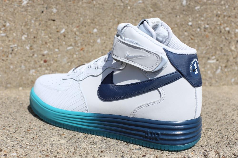 low priced 3aaf7 479c5 Nike Lunar Force 1 Mid LTHR - Pure Platinum Squadron Blue