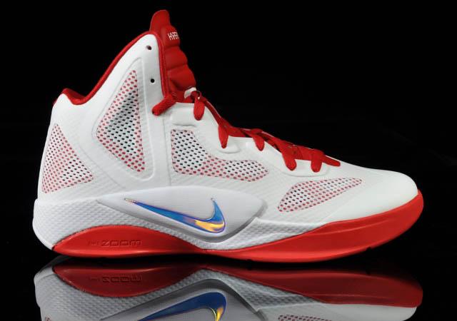 313077ec962e Nike Zoom Hyperfuse 2011 White Metallic Luster Sport Red 454136-101 Side