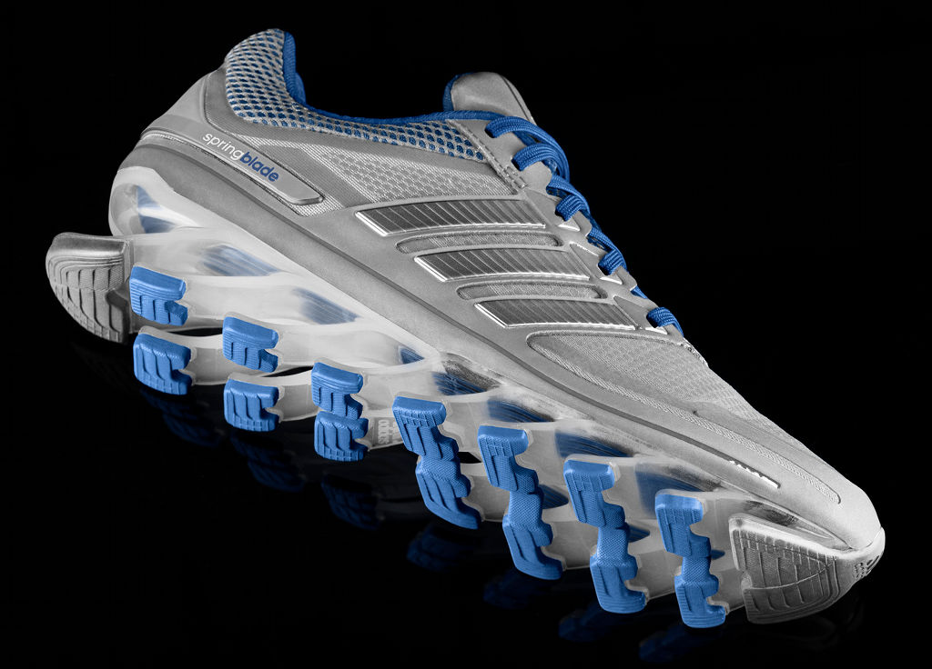 adidas Women's Springblade Grey Blue (2)
