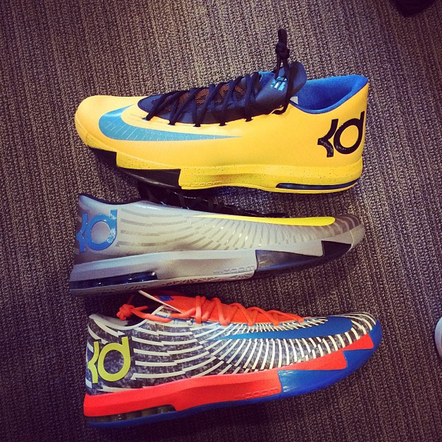Kevin Durant Shows New Nike KD 6 Colorways (1)