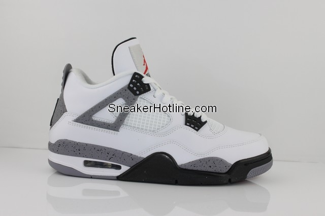 Air Jordan Retro 4 White Black Tech Grey 308497-103