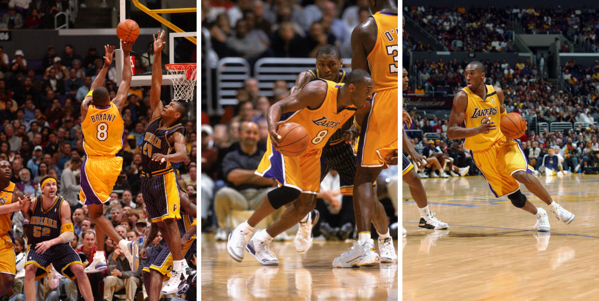 Kobe Bryant Scores 10,000th Point wearing Air Jordan III 3 Lakers PE (1)