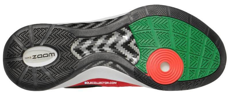 36d3b9550535 Nike Zoom Hyperdunk 2011 Challenge Red Black White Pine Green 454138-600