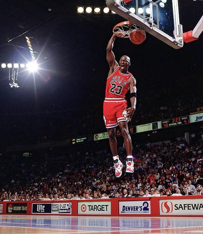 9c5021bb81a610 Flashback  Michael Jordan Wearing the  Carmine  Air Jordan 6