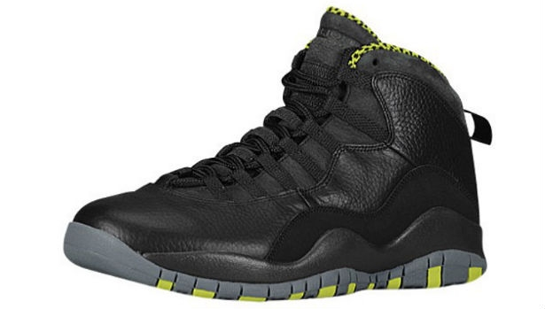 Air Jordan 10 Retro Black/Cool Grey-Anthracite-Venom Green