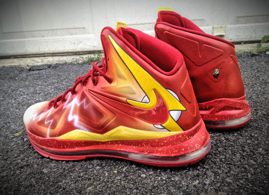 "Nike LeBron X ""The Flash"" by Mache Custom Kicks (3)"