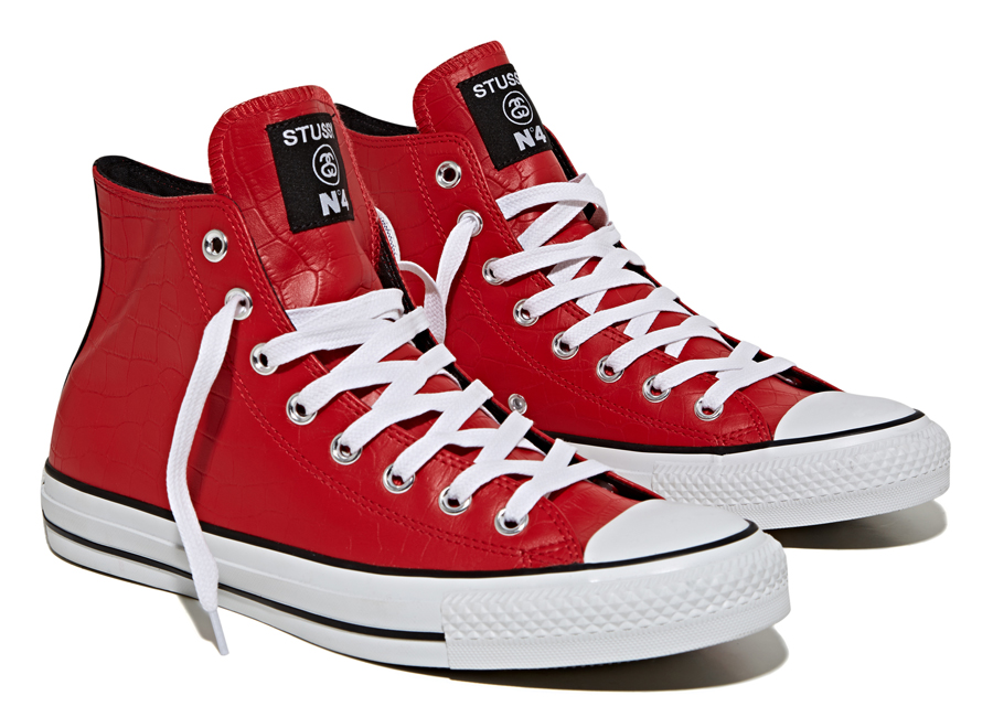 Stussy x Converse Chuck Taylor All Star Collection Red