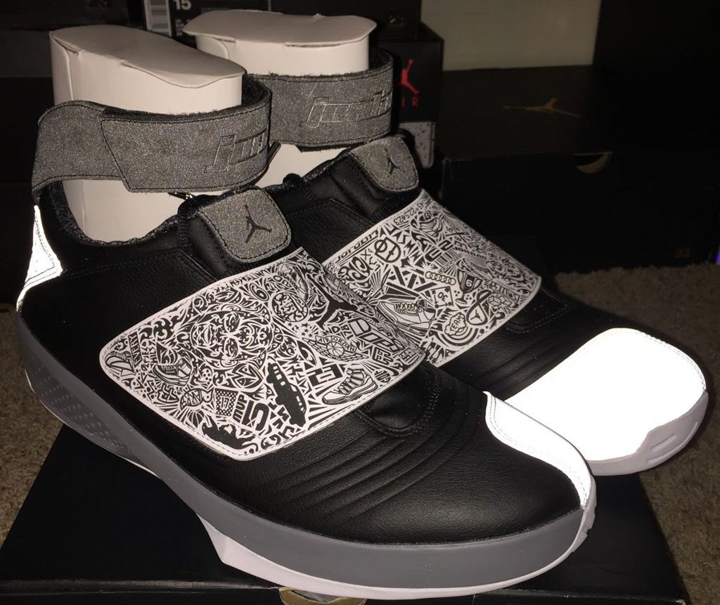 air jordan 20 black and white