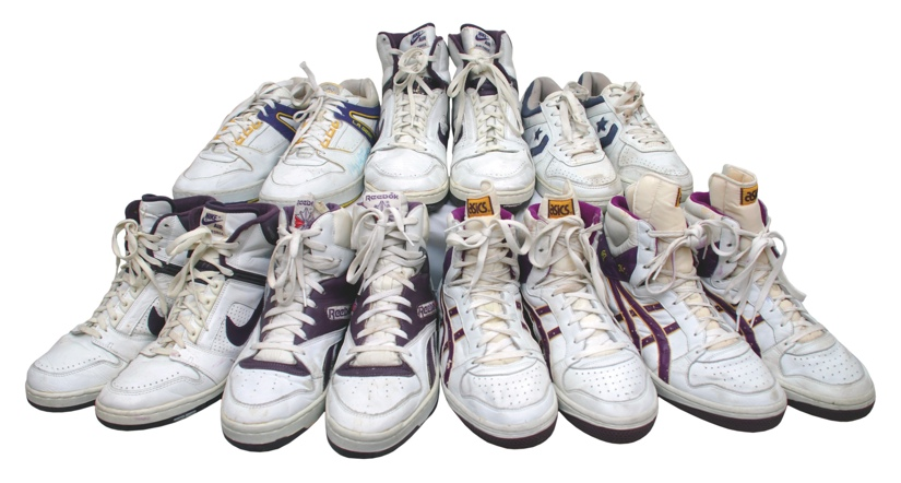 Los Angeles Lakers 1988 NBA Finals Game Worn Shoes Lot
