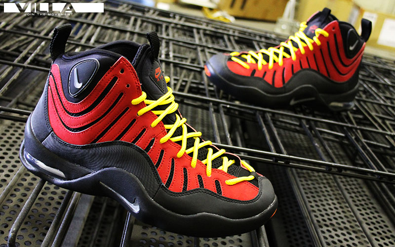 Nike Air Bakin Black/Metallic Silver-Varsity Red-Orange Blaze (5)