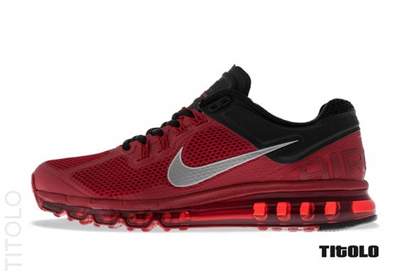 73458e0128 The Gym Red/Reflective Silver-Black Air Max 2013 is expected to hit  stateside retailers soon.