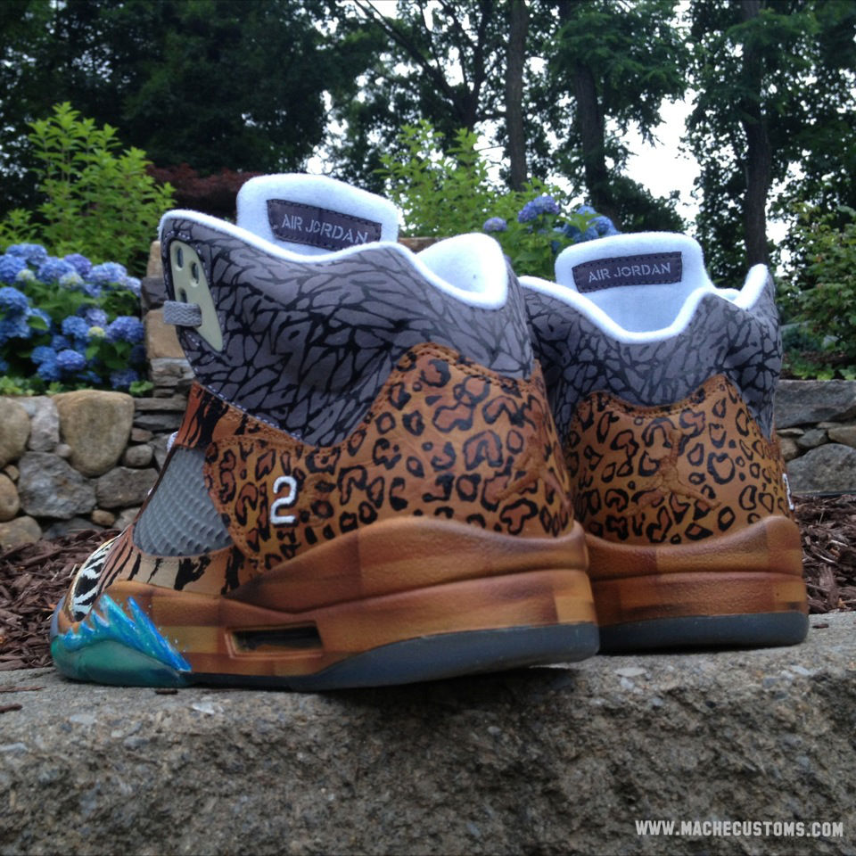 "Air Jordan V 5 Retro ""Noah's Ark"" by Mache Custom Kicks (4)"