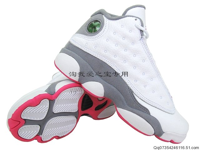 Air Jordan Retro 13 Girls White Spark Stealth 439358-101