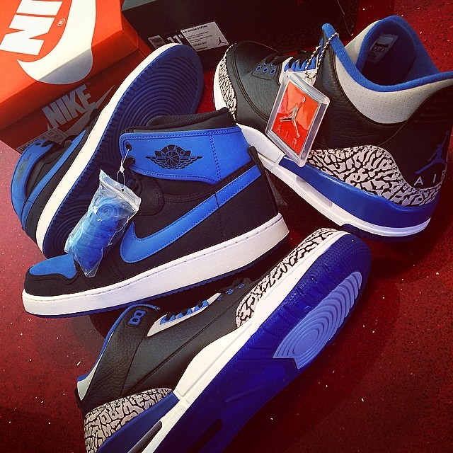 DJ Skee Picks Up Air Jordan 1 KO & Air Jordan III 3 Sport Blue