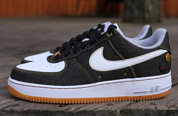 Collector Sole Takes Denim Over Nike Black Air The Force 1 Low pAgwnqZx