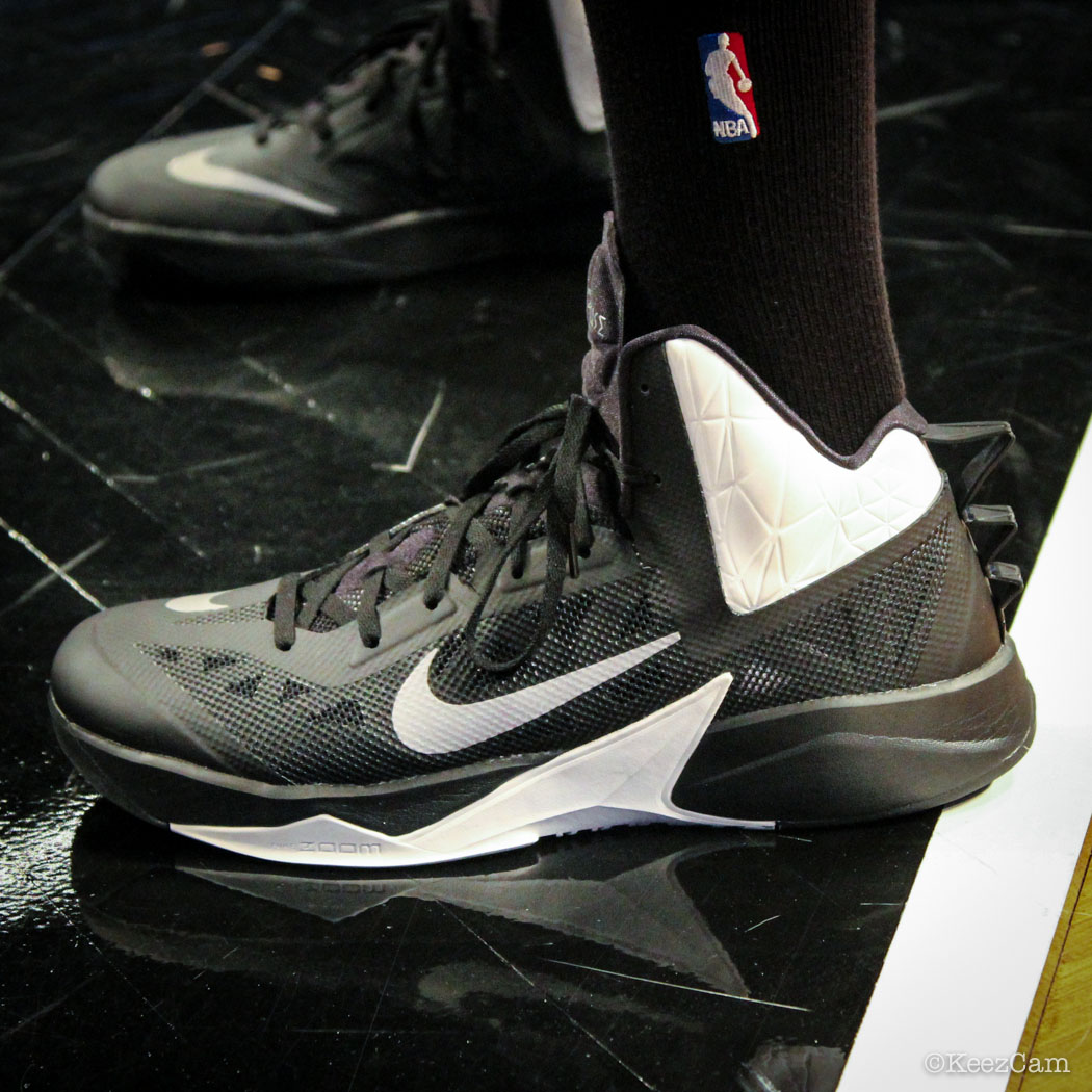 #SoleWatch // Up Close At Barclays for Nets vs Celtics - Keith Bogans wearing Nike Zoom Hyperfuse 2013