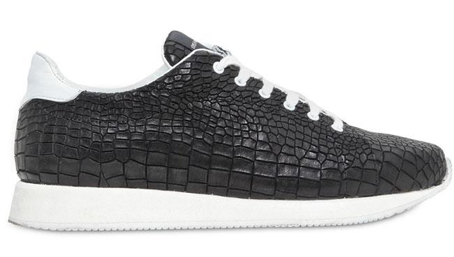 5da0e2e1a2 Kris Van Assche Croc-Embossed Leather Sneaker | Sole Collector