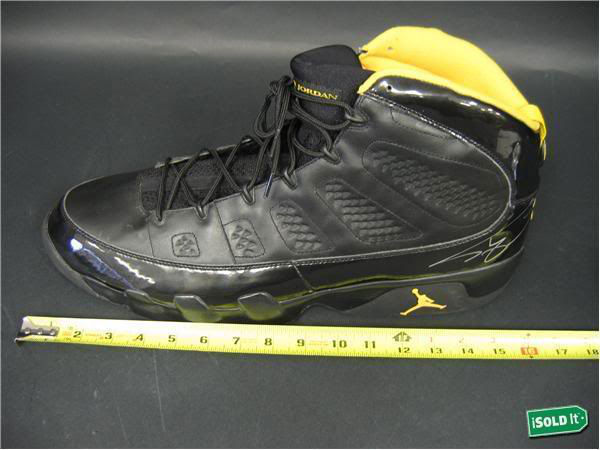 Air Jordan IX 9 Shaquille O'Neal Shaq Lakers Away PE (2)