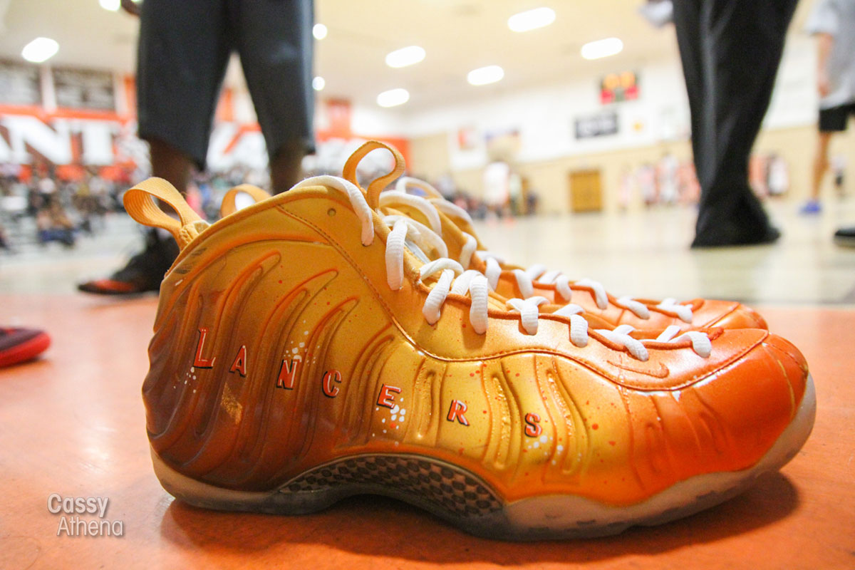 Glbert Arenas wears Custom Nike Air Foamposite One for Grant High Alumni Game (8)