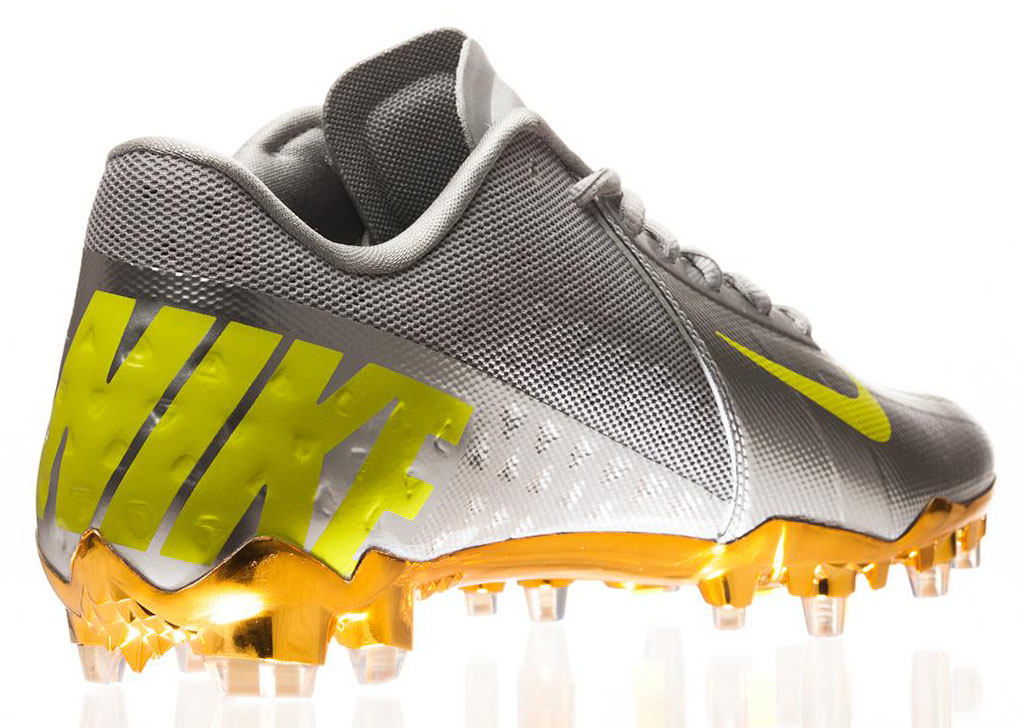 Nike Elite11 Vapor Talon Elite Cleats - Silver (8)