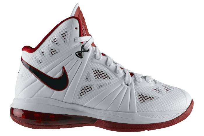 23a719d3f Release Reminder  Nike LeBron 8 P.S. - White Black-Sport Red