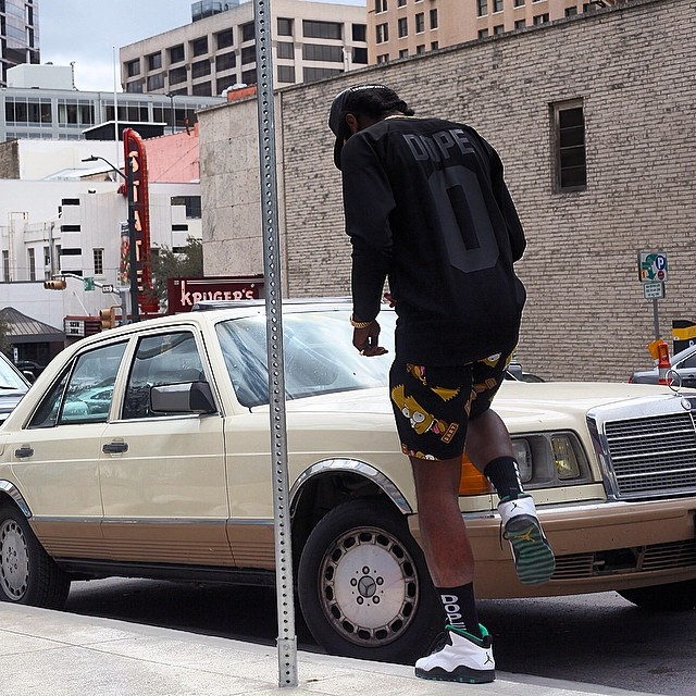 Trinidad James wearing Air Jordan 10 Seattle