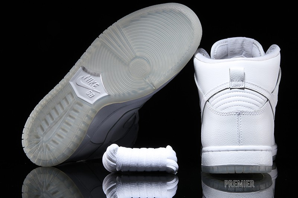 purchase cheap dbdb7 c30d1 The Nike SB Dunk High Goes 'All White' For Spring | Sole ...