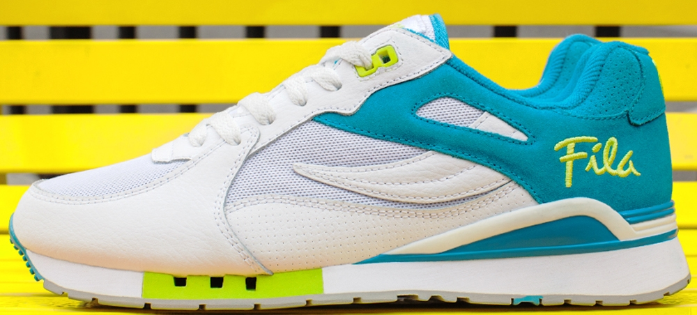 Fila Overpass White/Atomic Blue-Safety Yellow