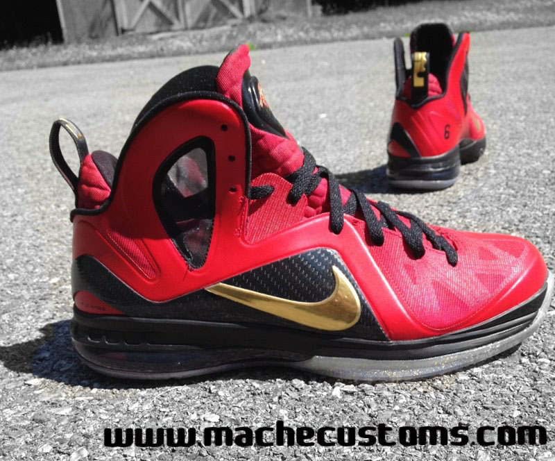 newest eccef dfac7 ... black gold basketball shoes db1d2 4c58c  new arrivals nike lebron 9  p.s. elite finals by mache custom f0a39 021f1