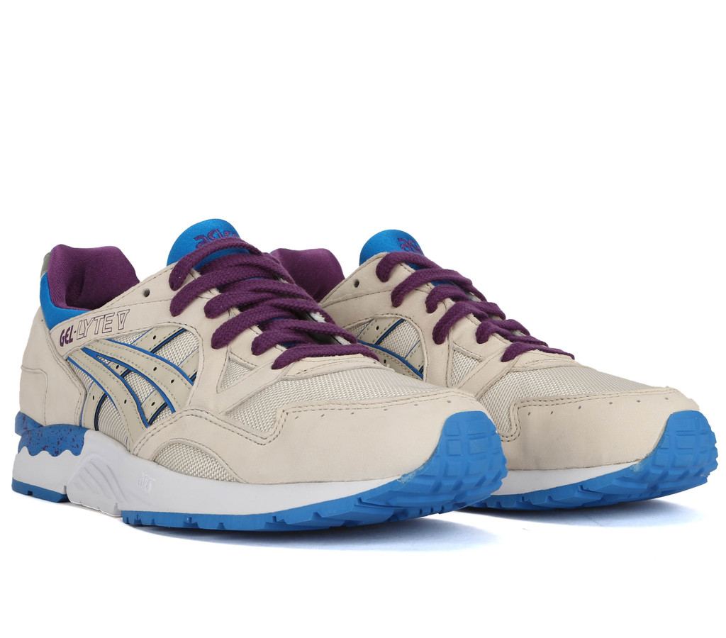 online retailer f9a64 f7fe6 ASICS Gel-Lyte V - Off-White/Purple | Sole Collector