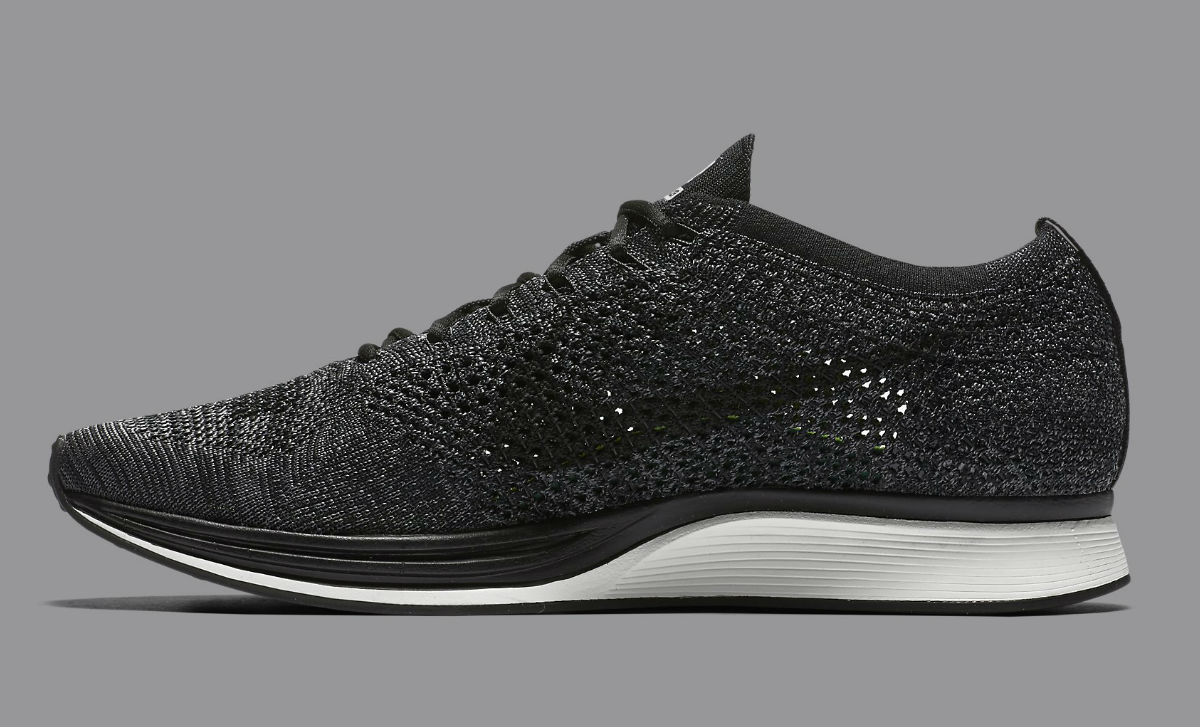 f5f89517dacb Nike Flyknit Racer Black Knit by Night Medial 526628-005