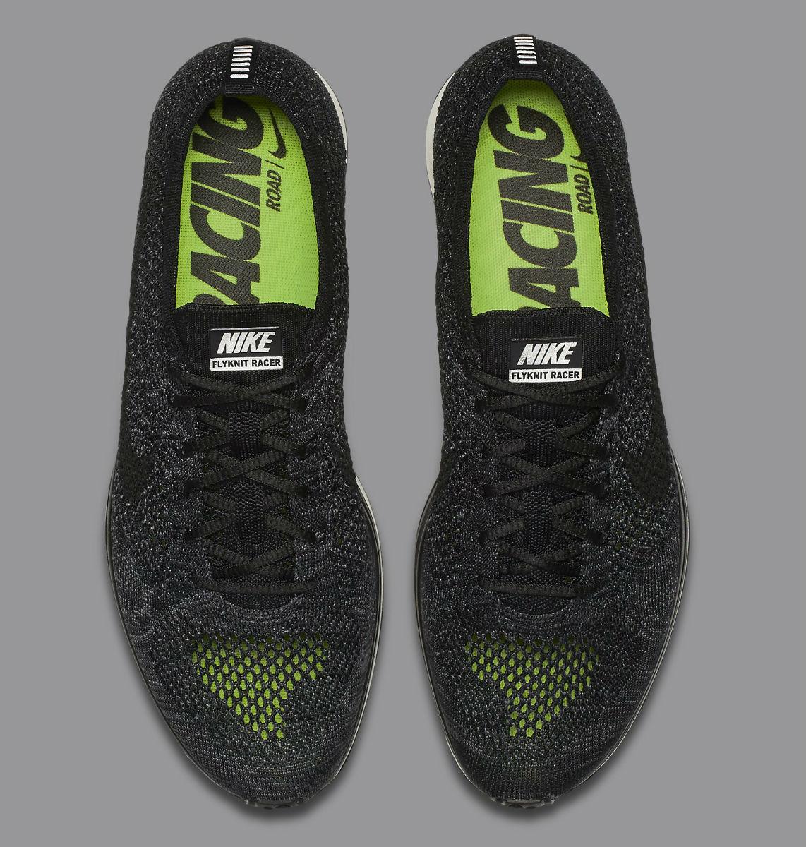 4ffbaa663165 Nike Flyknit Racer Black Knit by Night Top 526628-005
