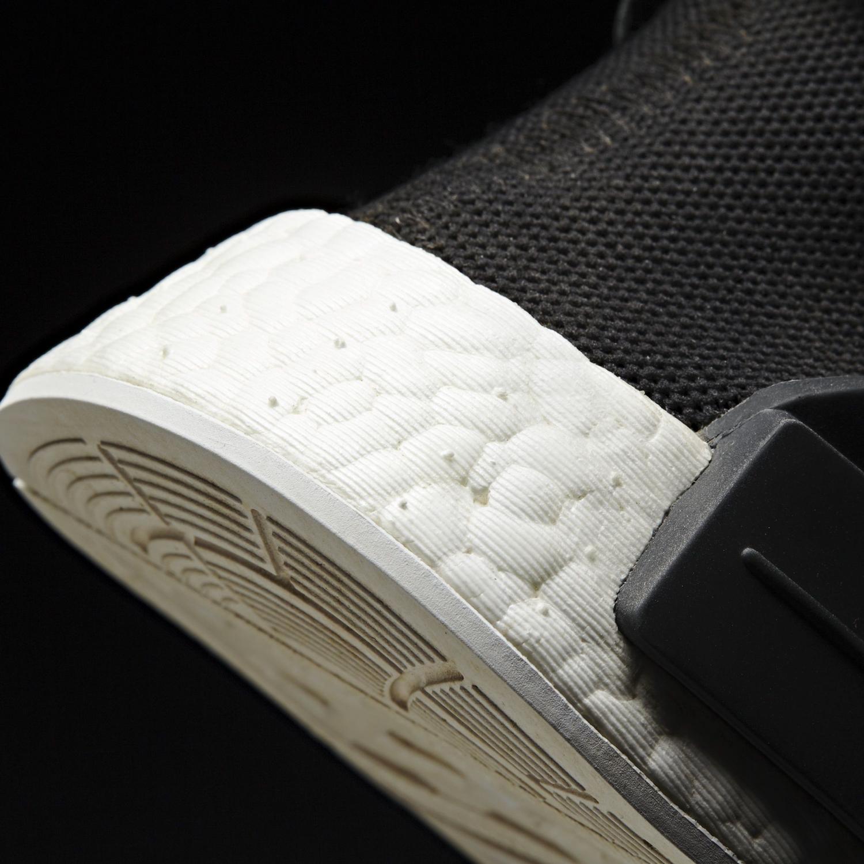 Black Pharrell Adidas NMD BB3068 Heel Detail