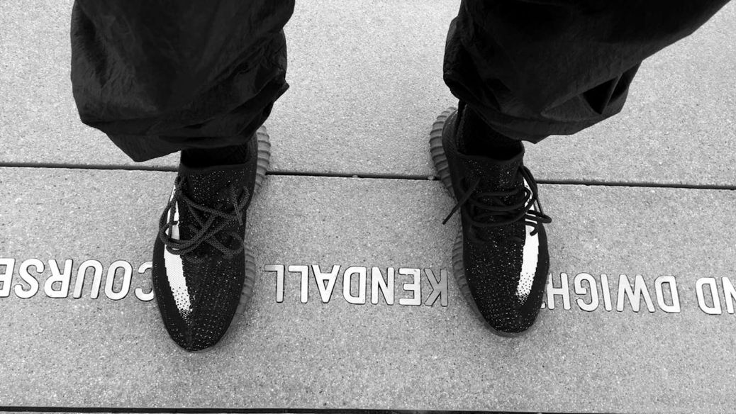 Kanye West Wears Black White Stripe Yeezys Sole Collector